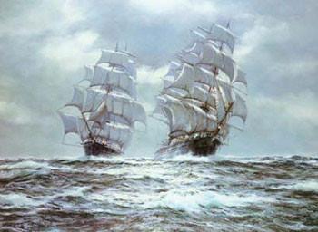 Silver Seas Kunstdruk