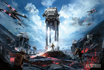 Póster Star Wars Battlefront - War Zone