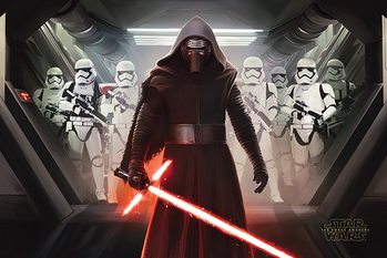 Póster Star Wars Episode VII: The Force Awakens - Kylo Ren & Stormtroopers