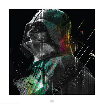 Star Wars Rogue One - Darth Vader Lines Kunstdruk