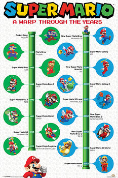 Póster Super Mario - A Warp Through The Years