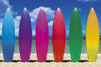 SURF BOARDS Poster / Kunst Poster