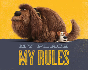 The Secret Life of Pets - My Place My Rules Poster