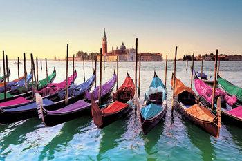 Venetië - gondels Poster