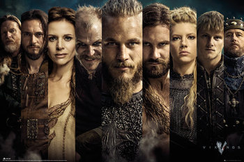 Póster Vikingos - Grid