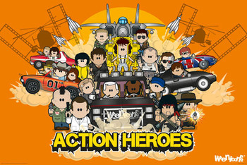 Weenicons - action heroes Poster