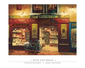 Wine and Bread Poster / Kunst Poster