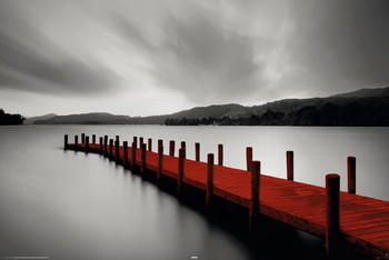 WOODEN LANDING JETTY - red Poster / Kunst Poster