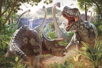 David Penfound - Dinosaur Battle  Poster