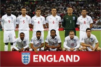 England - Team shot Poster