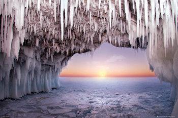 Ice Cave - Horizon Poster