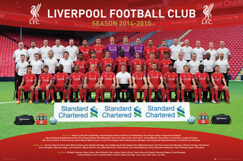 Liverpool FC - Team Photo 14/15 Poster