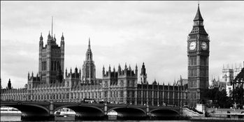 London - Houses of Parliament and Big Ben Reproducere