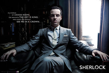 Sherlock - Moriarty Chair Poster