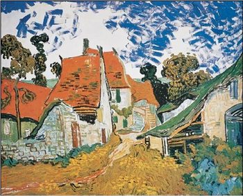 Street in Auvers-sur-Oise, 1890 Reproducere