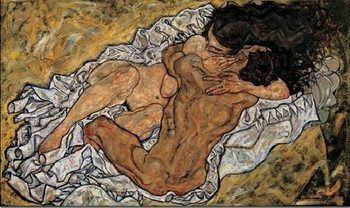 The Embrace (Lovers II), 1917 Reproducere