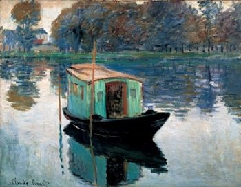 The Studio Boat, 1874 Reproducere