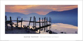 Wooden Landing Jetty - David Noton, Cumbria Reproducere