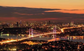 Horizon Urbain Istanbul Bosphore Poster Mural XXL