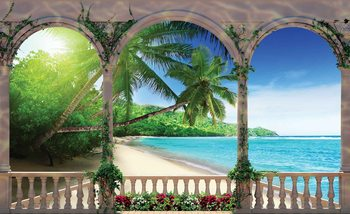 Plage tropicale Poster Mural XXL
