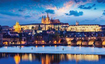 Prague Ville Fleuve Poster Mural XXL