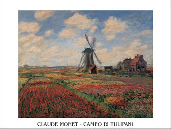 A Field of Tulips in Holland, 1886 Poster