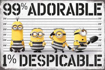 Poster Despicable Me 3 - Ich - Einfach unverbesserlich - 99% adorable 1% Despicable
