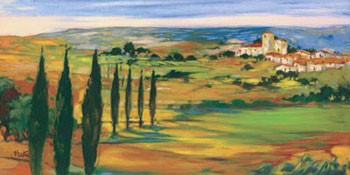 Hills Of Tuscany Kunstdruck
