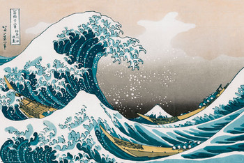 Poster Katsushika HokusaiI- great wawe of kanagawa