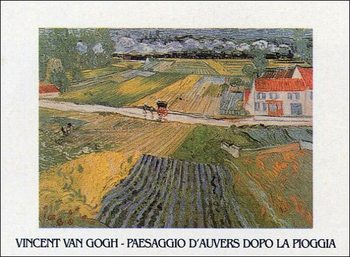Landscape at Auvers after the Rain, 1890 Kunstdruck