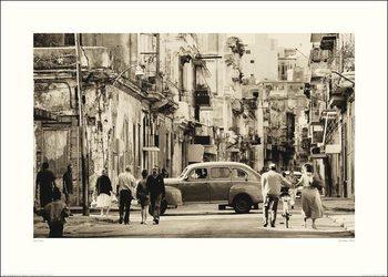 Poster Lee Frost - Havana Street, Cuba
