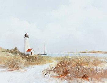 Lighthouse Channel Kunstdruck