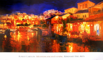 Mediterranean Evening Kunstdruck
