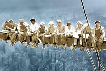 Poster Men on girder - New York/pop