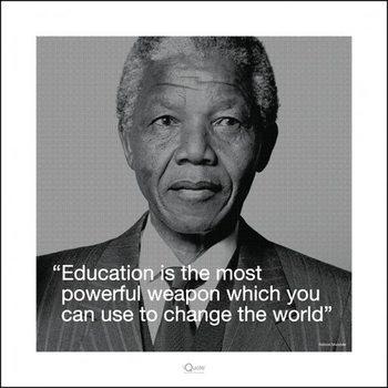 Poster Nelson Mandela - Quote