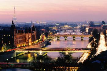 Poster Paris - view colour