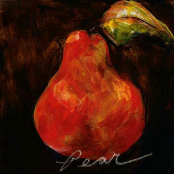 Red Pear Kunstdruck