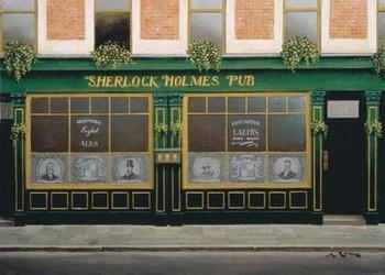 Sherlock Holmes Pub Kunstdruck