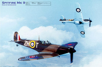 Poster Spitfire MK9 - airplane