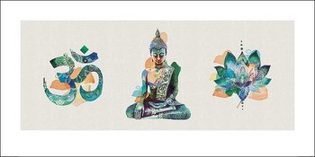 Summer Thornton - Yoga Triptych Kunstdruck