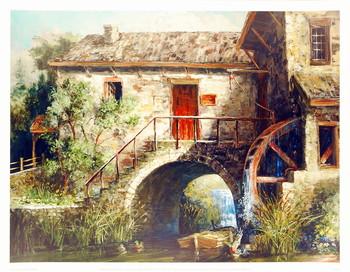 The Old Stone Mill Kunstdruck