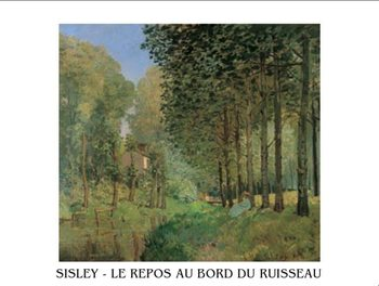 The Rest beside a Creek, 1872 Kunstdruck