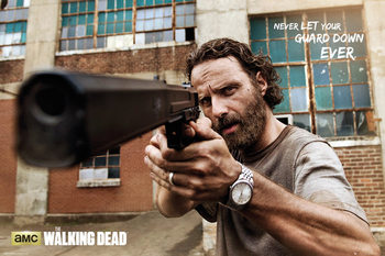 Poster The Walking Dead - Rick Gun