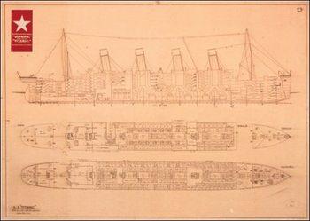 Titanic - Plans Kunstdruck