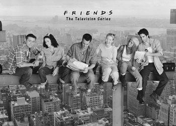 Poster Vänner - Lunch uppe på en skyskrapa