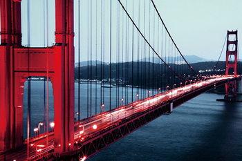 Golden Gate - San Francisco Print på glas