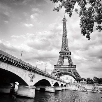 Paris - Eiffel Tower Print på glas