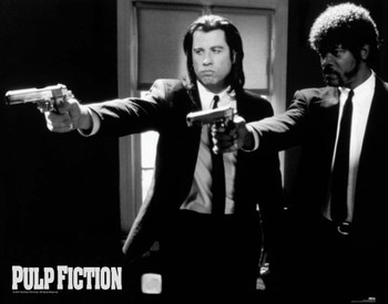 Pulp fiction - guns - плакат (poster)