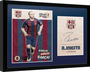 Barcelona - Iniesta Vintage 16/17 rám s plexisklom