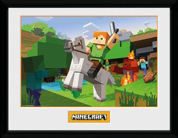 Minecratf - Zombie Attack Zarámovaný plagát